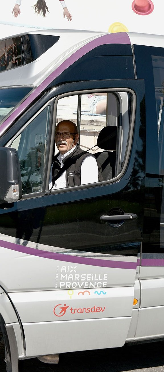 Transdev Chronopro navette transport à la demande réservation déplacement conducteur