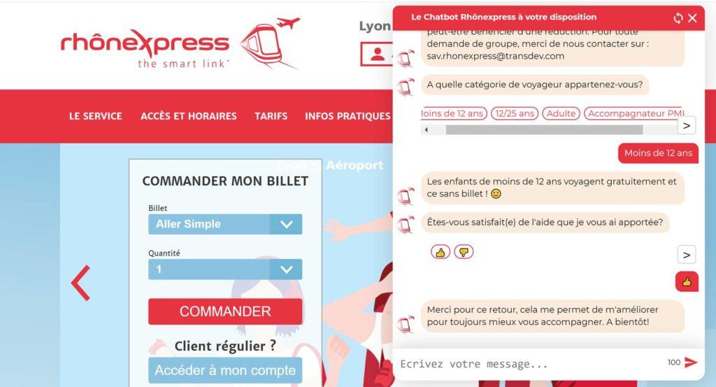 Chatbot Rhône Express