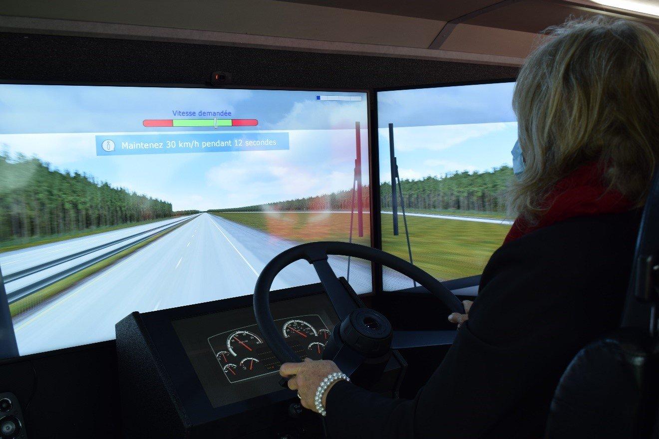 Test de conduite sur simulateur