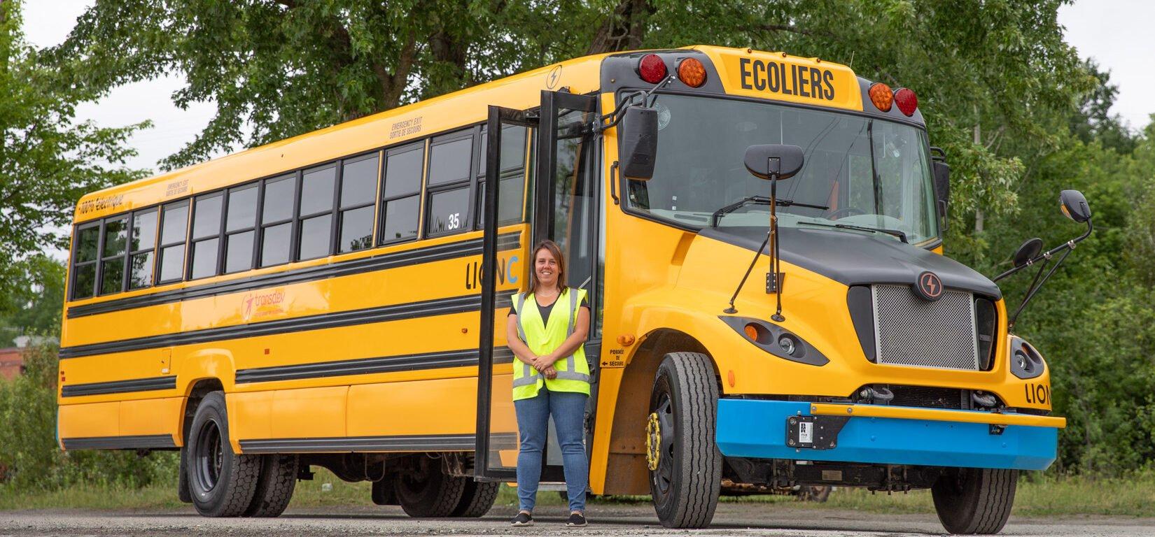 Autobus scolaire électrique - Transdev Canada